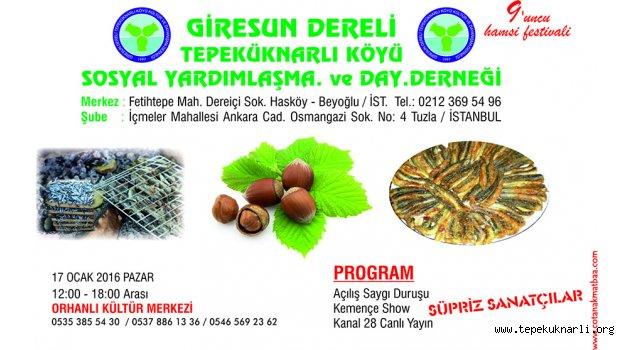 Tepeküknarlı Köyü 9. Hamsi Festivali 17 Ocak'ta Yapılacak