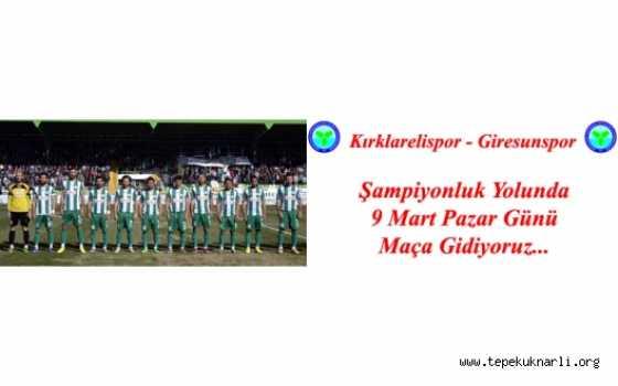 Kırklarelispor - Giresunspor Maçına Gidiyoruz