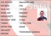 Şehit - Necmettin ATİK (13.04.1996)