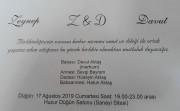 Düğün - Zeynep & Davut AKTAŞ (17.08.2019)