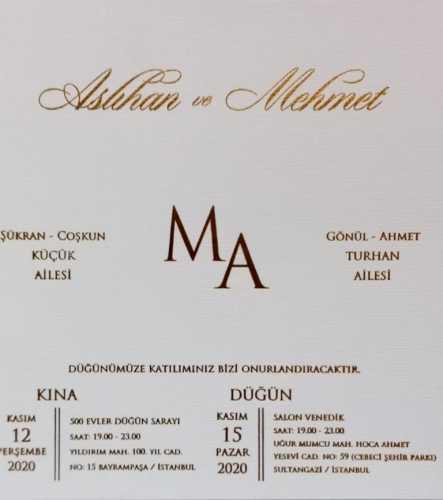 Düğün - Aslıhan KÜÇÜK & Mehmet TURAN (15.11.2020)