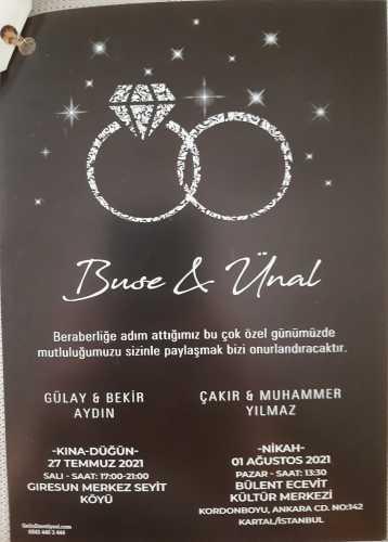 Düğün - Buse AYDIN & Ünal YILMAZ (01.08.2021)